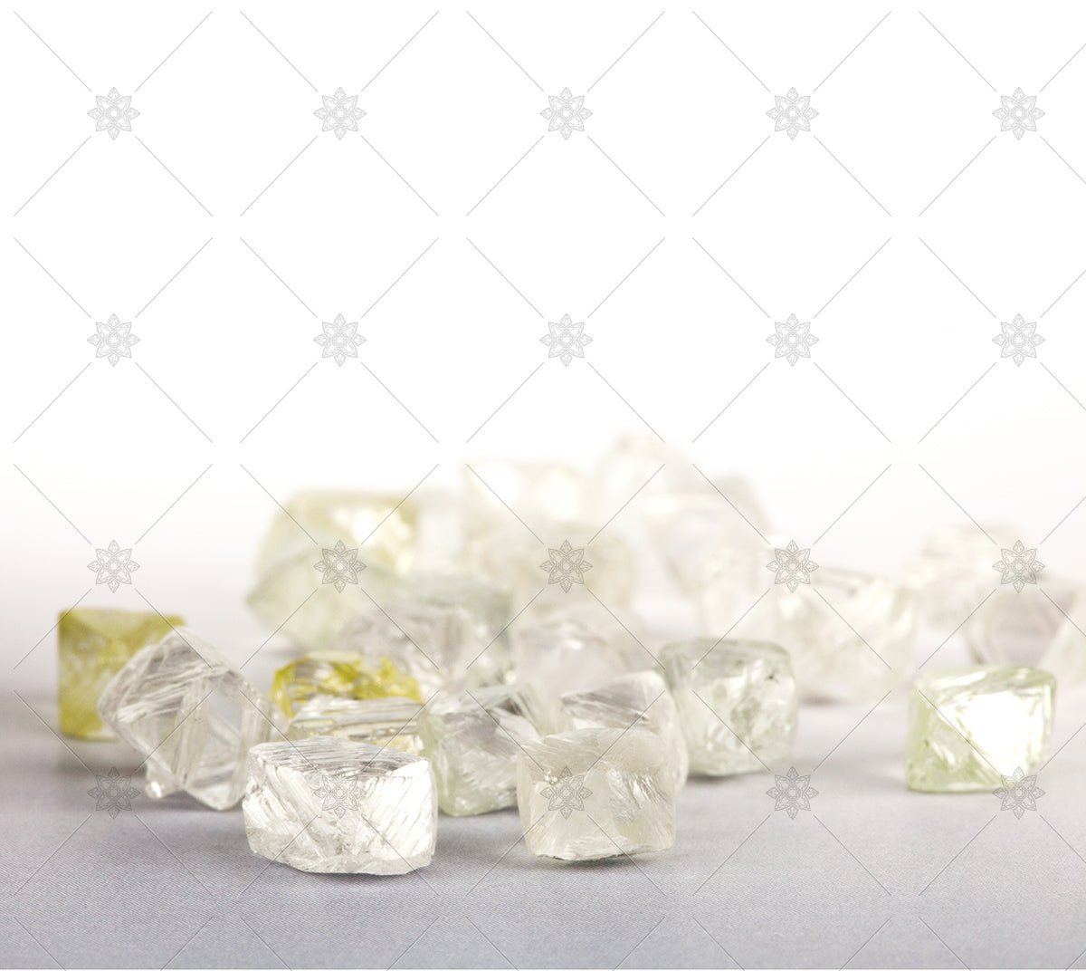 collection of rough diamonds
