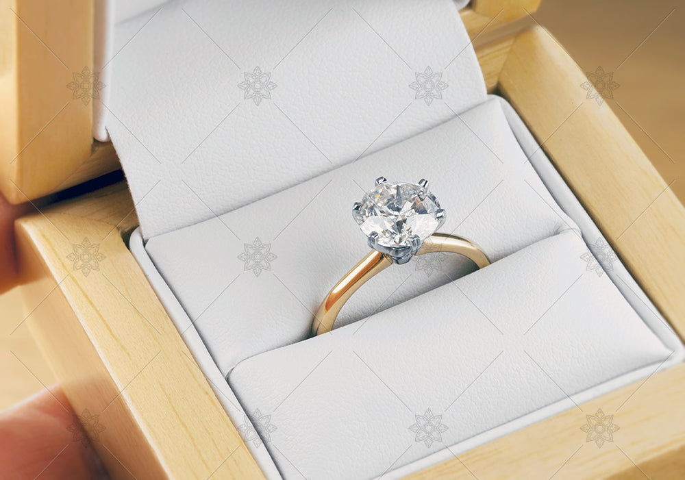 2ct diamond ring in a box