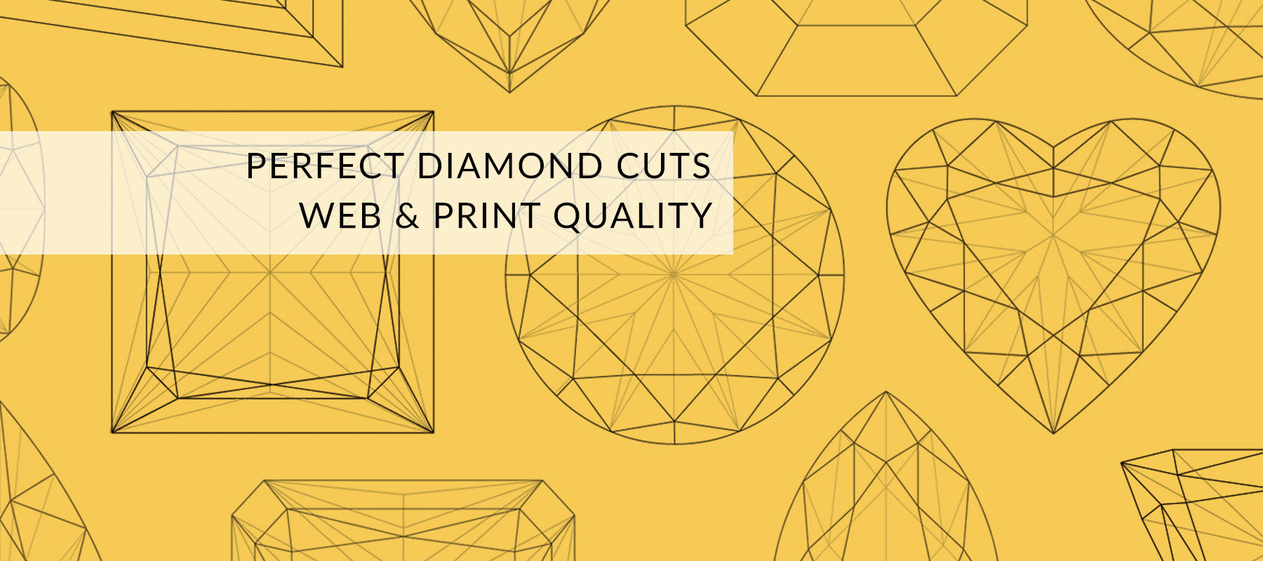 Diamond shapes for print and web