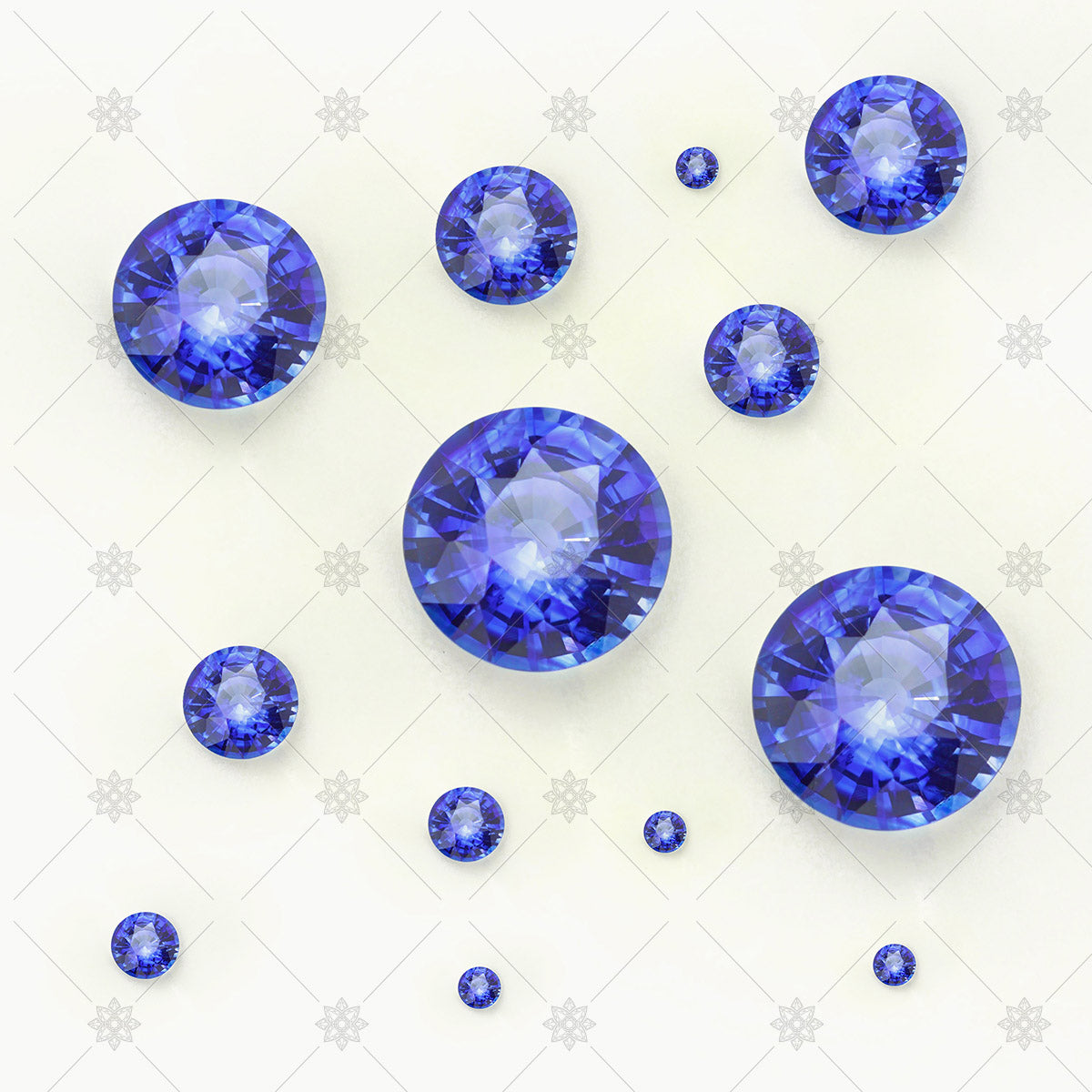 group of blue sapphires