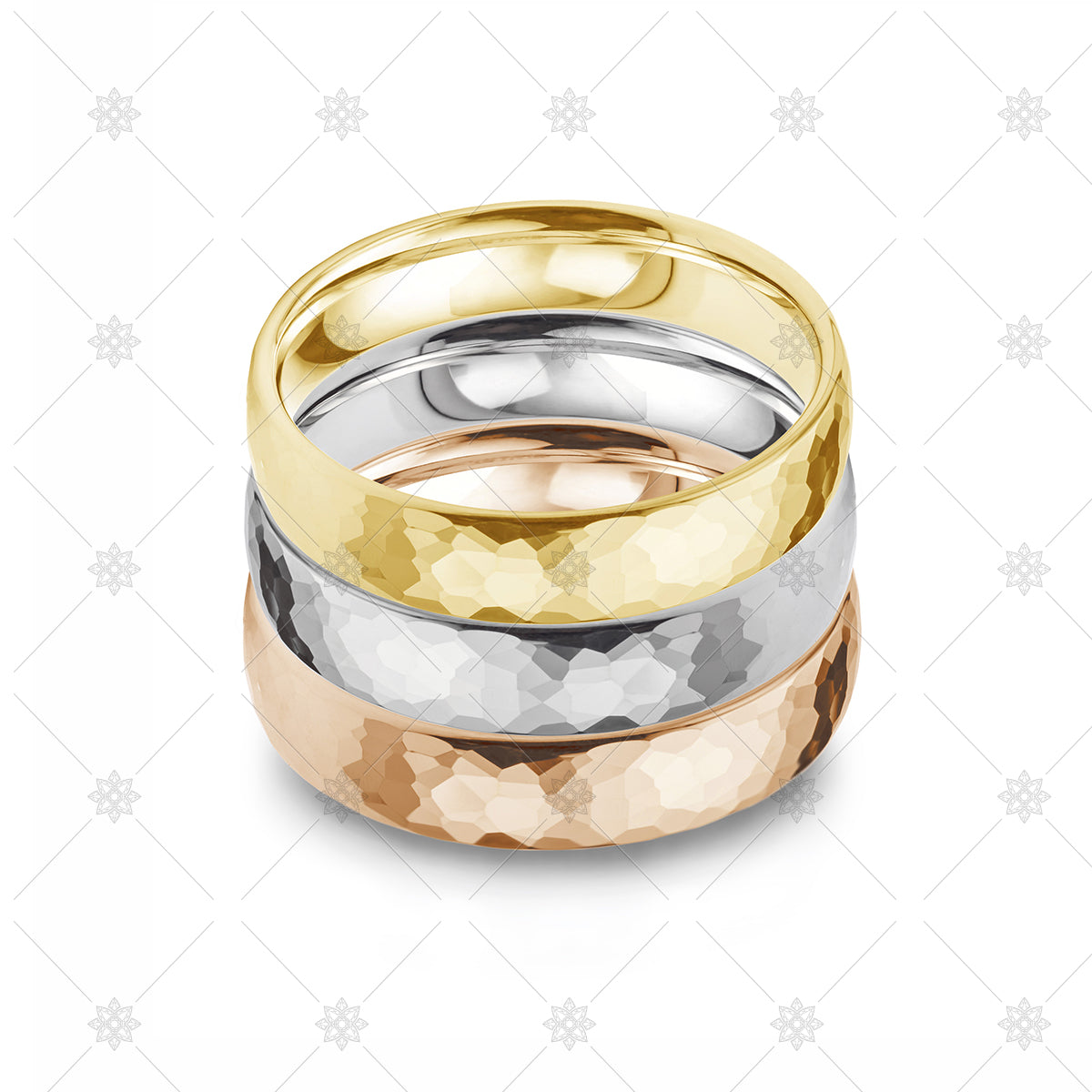 Wedding ring stack stock image
