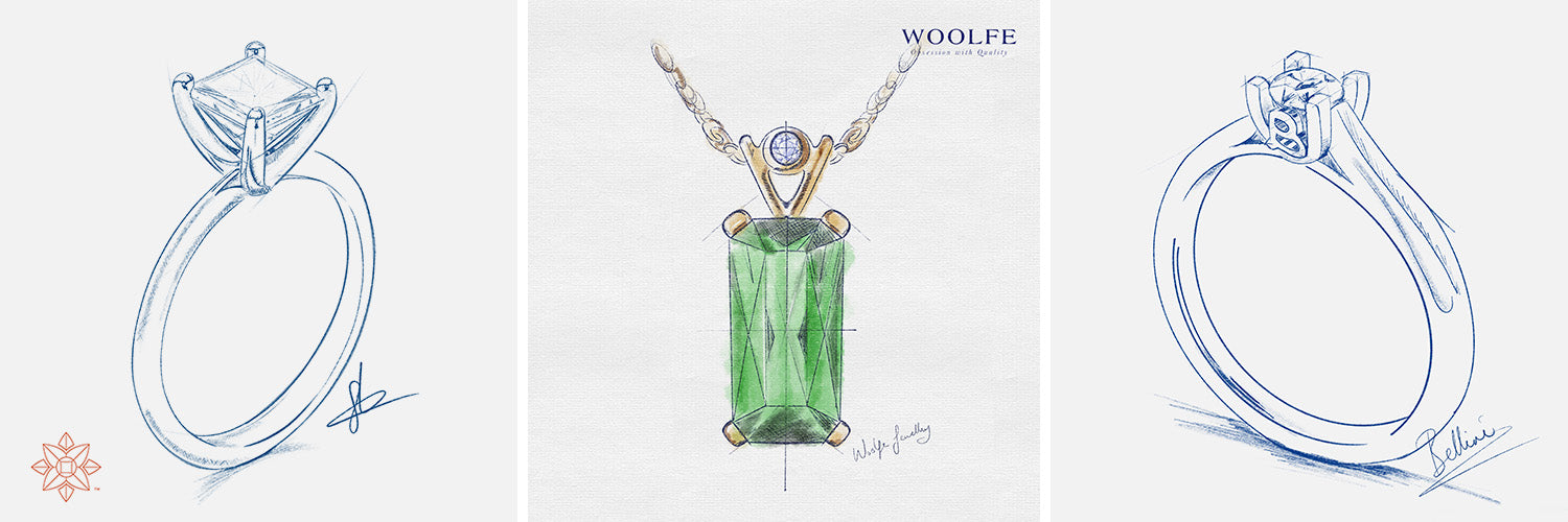 sketching your jewellery designs