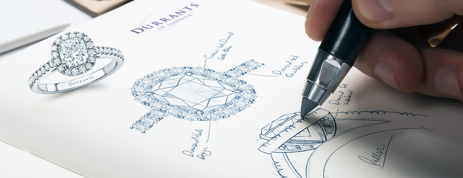 Sketches of diamond rings