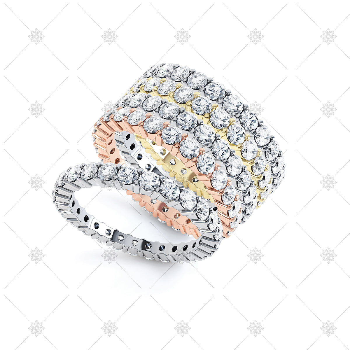 Stackable Ring Set - diamond rings