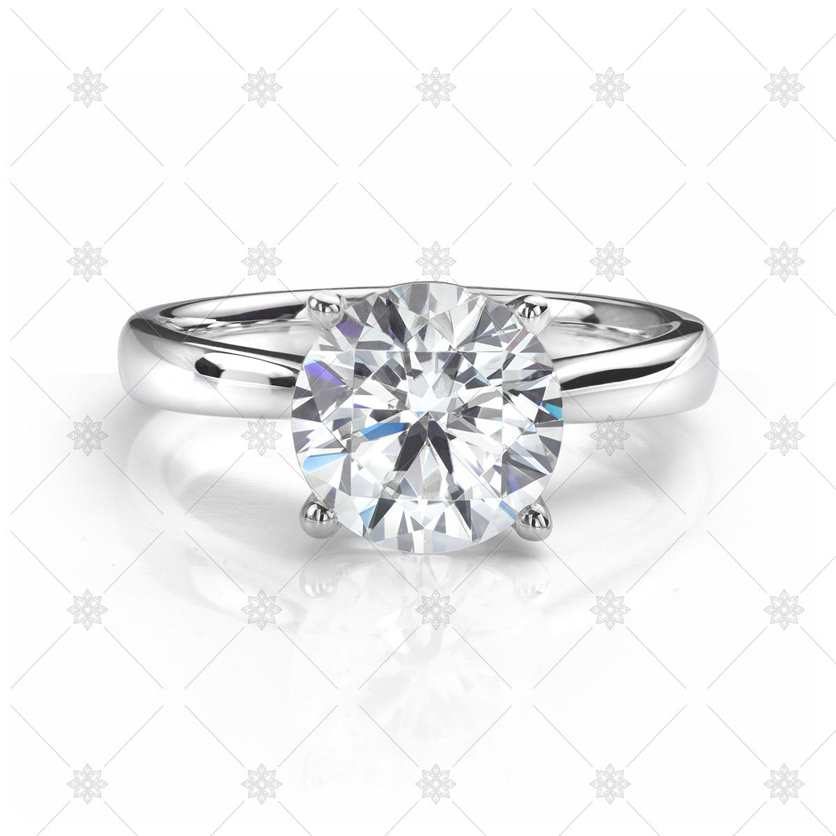perfect solitaire diamond ring
