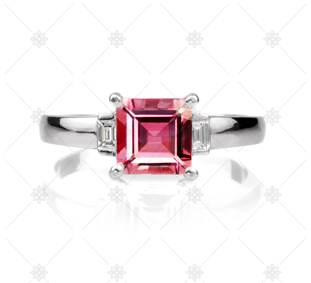 Ruby Carre Cut RIng