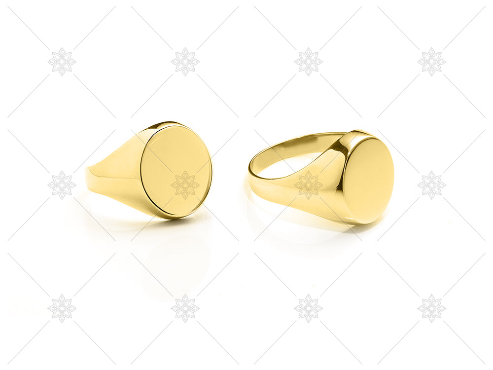 Yellow Gold Signet RIngs