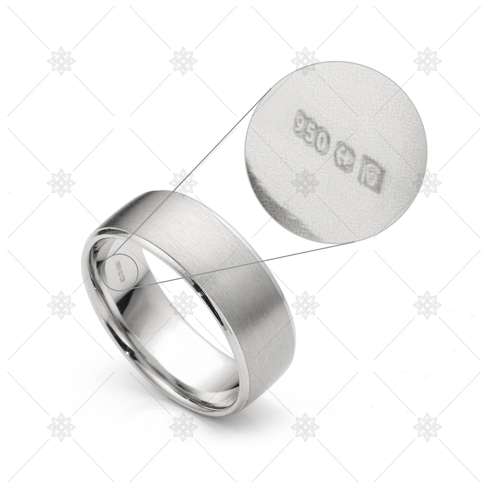mens satin wedding ring