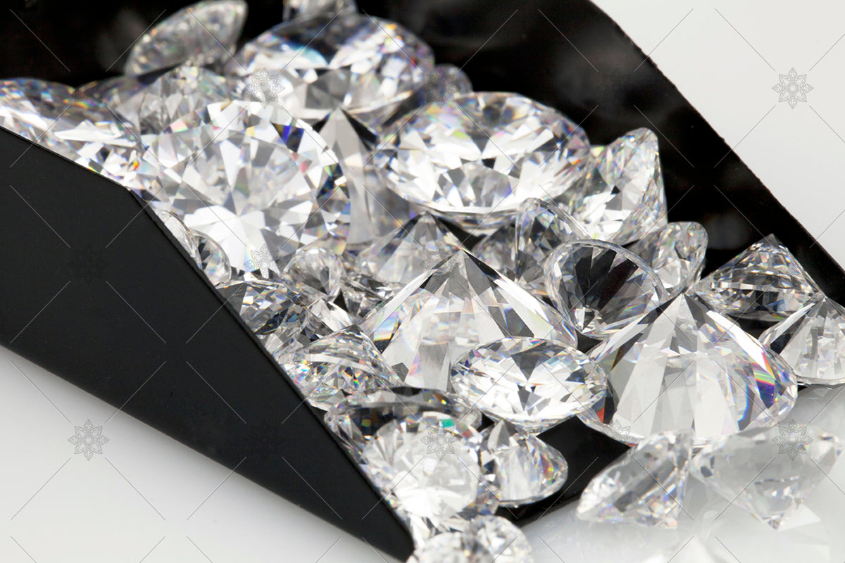 Diamonds in a scoop - shovel of diamonds