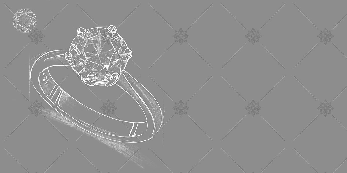 diamond ring sketch website banner