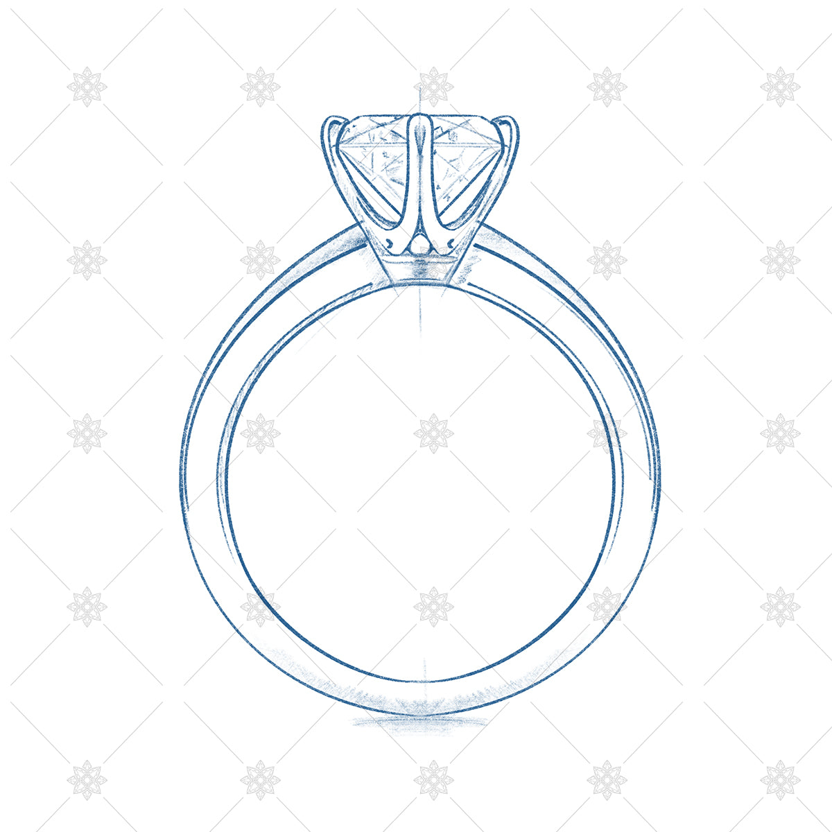 tiffany ring design - drawing and ring sketch