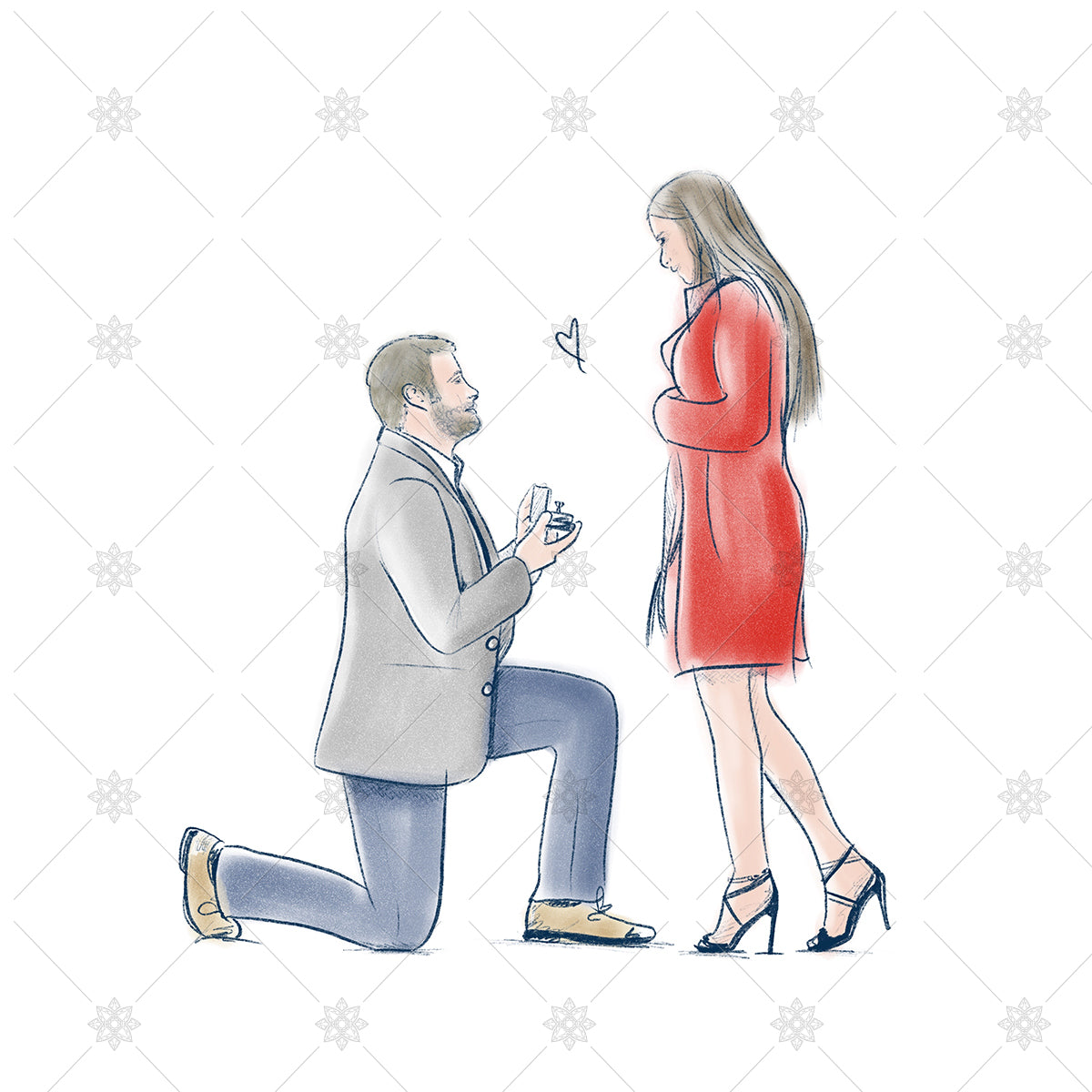 couple proposal sketch