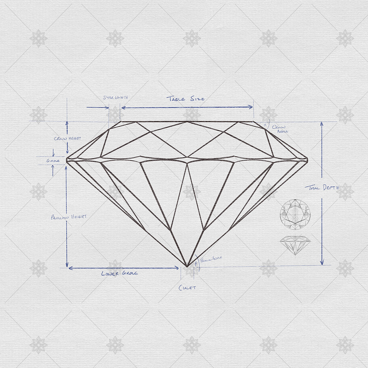 Diamond Proportions and Anatomy Sketch