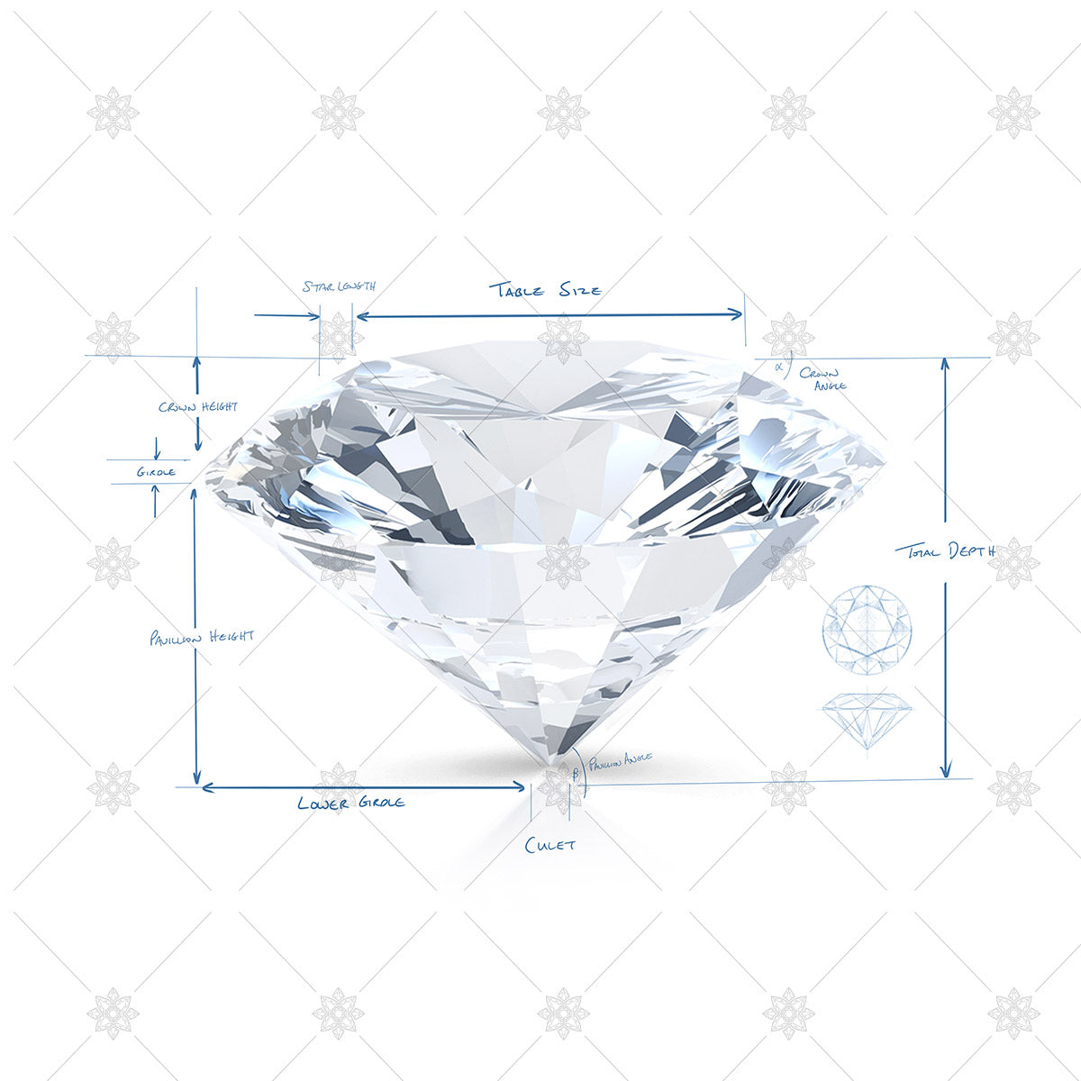diamond outline and specification