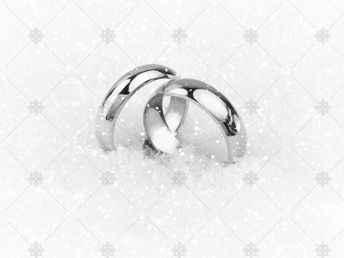 winter wedding rings