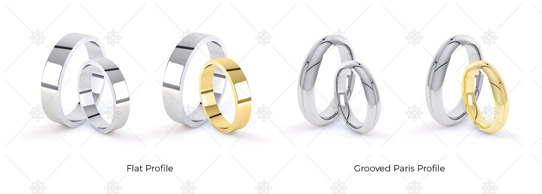 Wedding rings double profile images retail pack