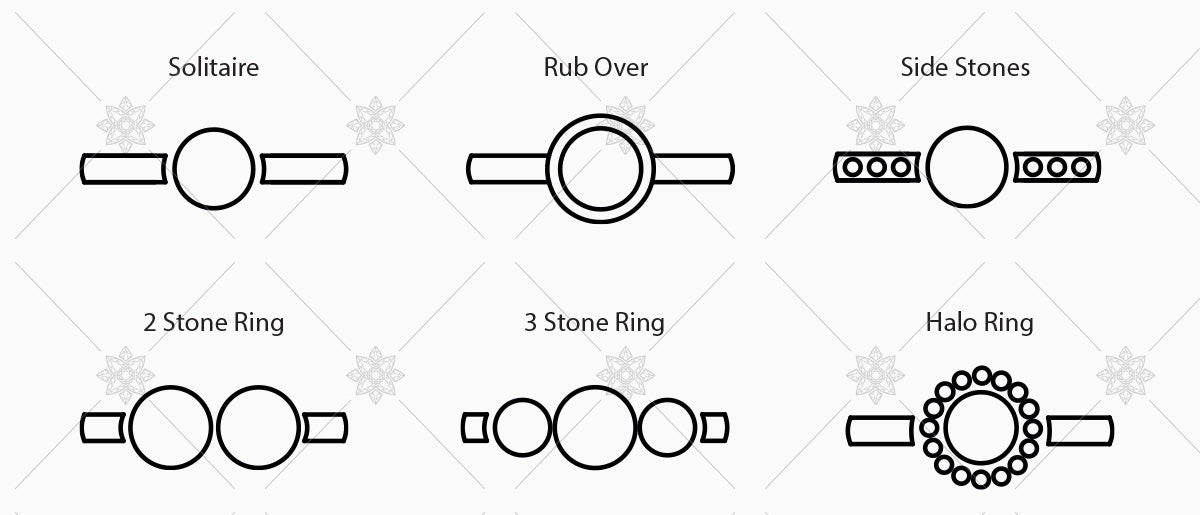 diamond ring shape icons