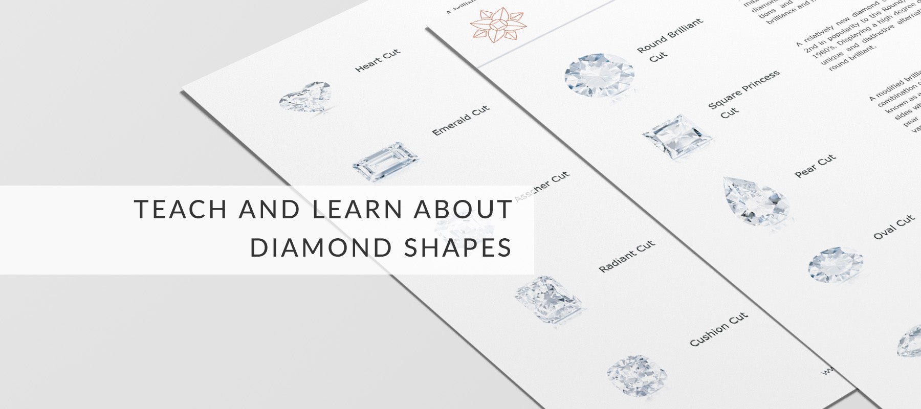 diamond cuts and shapes for education and learning