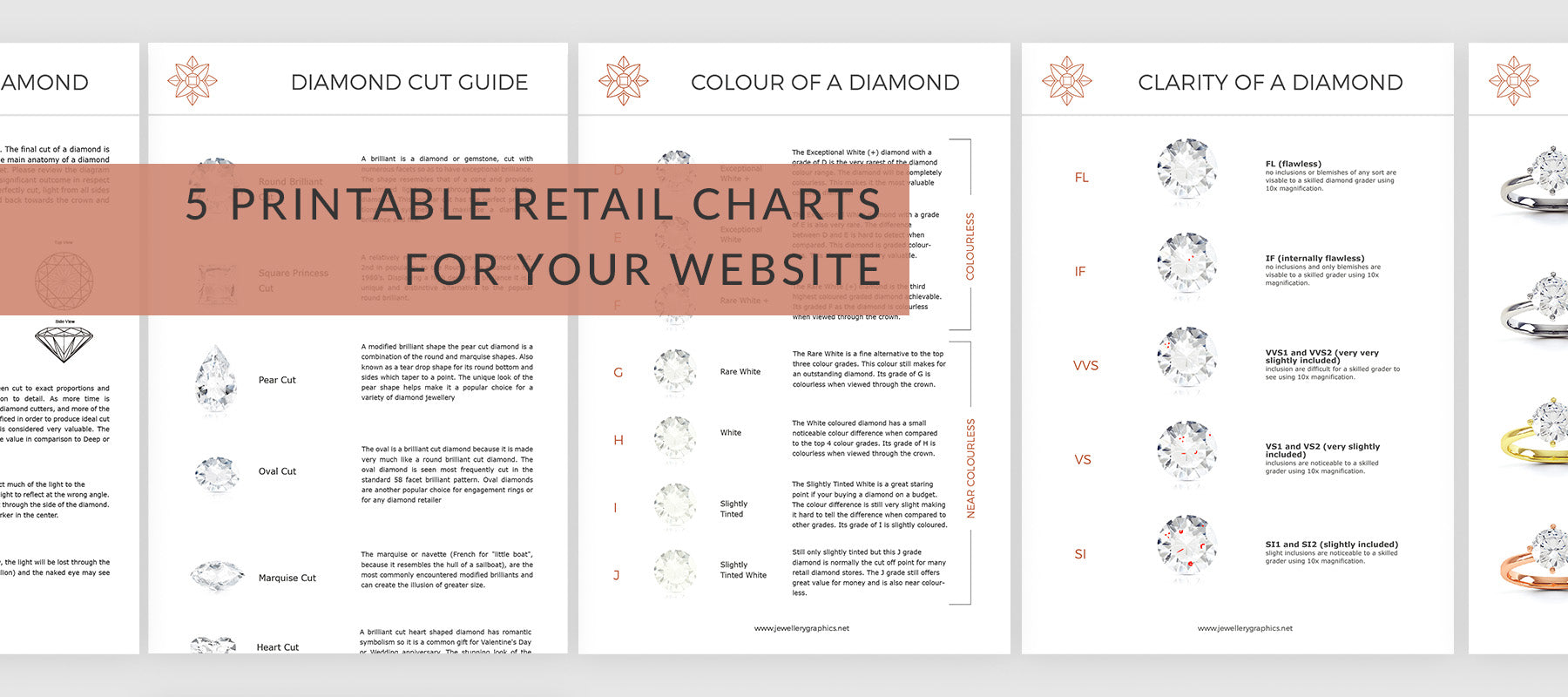 printable retail charts for jewellery