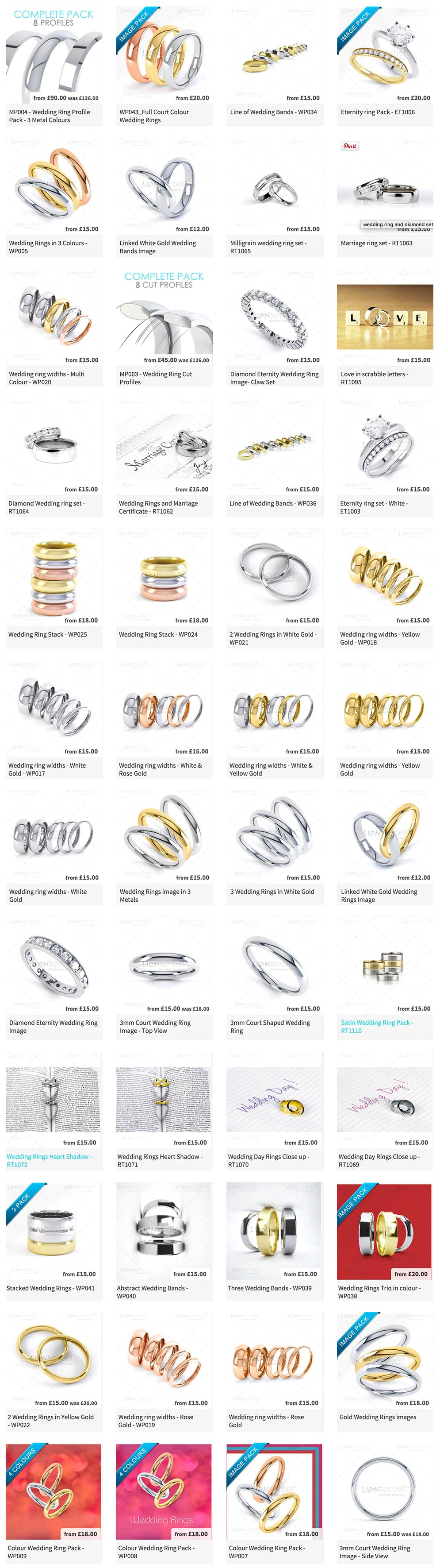 wedding ring mega pack