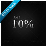 10% SALE website graphics for retail stores - images for download