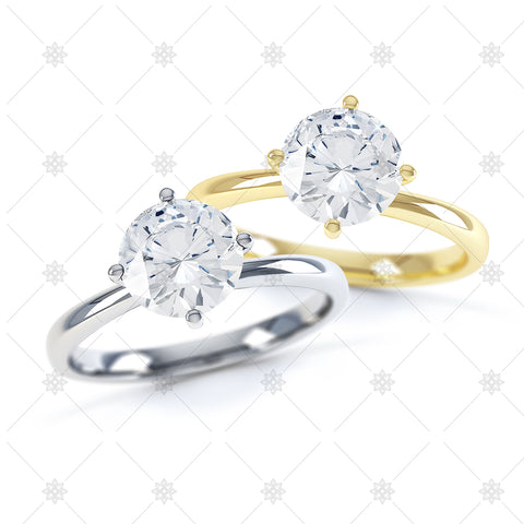 Round 4 Claw Engagement Rings - 3001