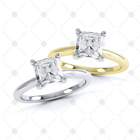 Square 4 Claw Ring Set - 3002