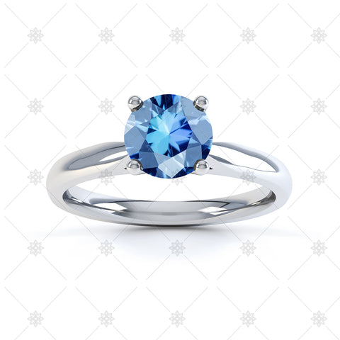 Blue Topaz Gemstone Ring Image - 3015