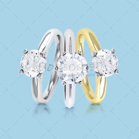 Set of engagement Rings