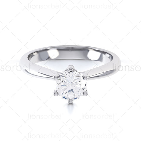 4012 Round 6 Claw Ring Diamond Rings