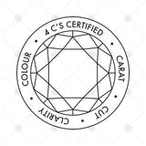 4C's Diamond Certification Icons - MP023