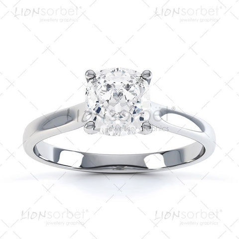 Cushion Cut engagement ring image