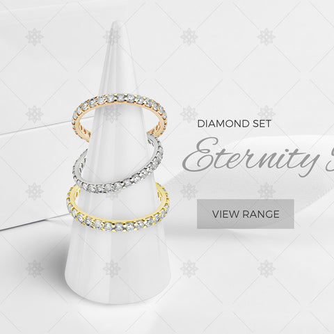 Diamond Eternity Rings website banner - B1006