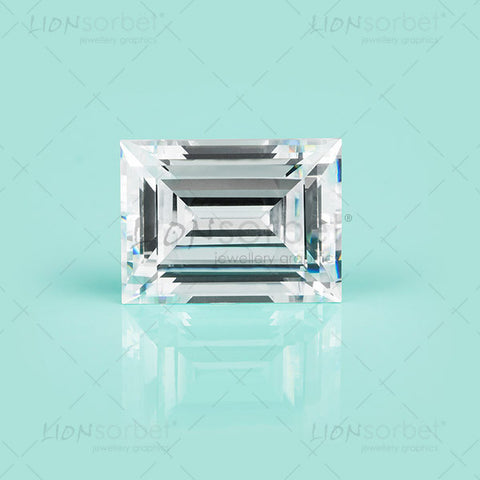 Baguette Diamond image on Tiffany green