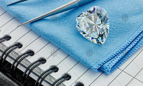 Heart Diamond on Blue cloth  - MJ1040
