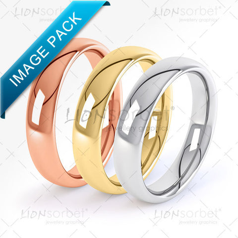 colour wedding rings pack