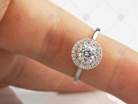 Diamond Halo Ring - MJ1029