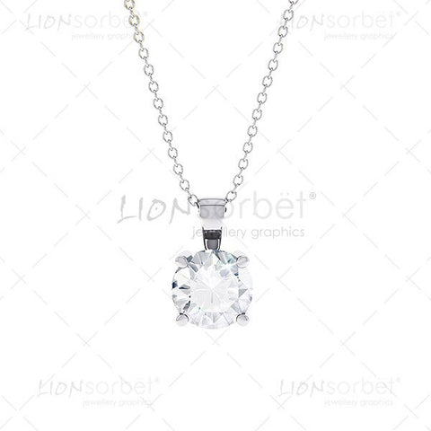 Front View of a white gold diamond pendant image