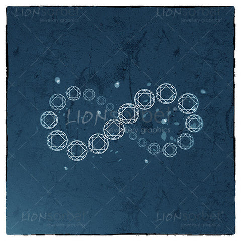Diamonds are forever - Infinity diamonds image on blue background
