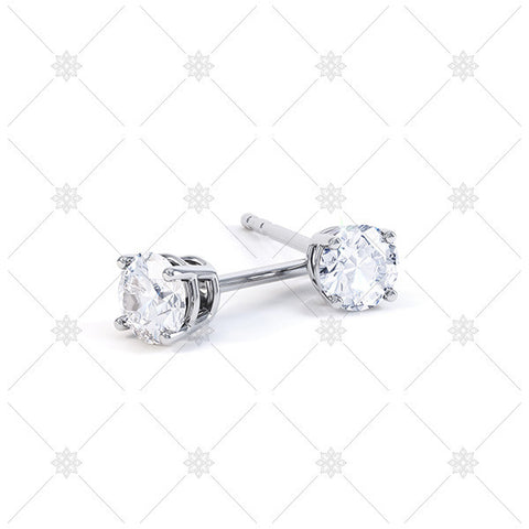 Solitaire Stud Earrings - E001