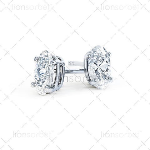 Domino Oval Stud Earring ECO2