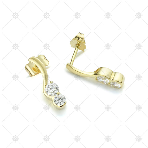 Two stone diamond earrings - ED1003