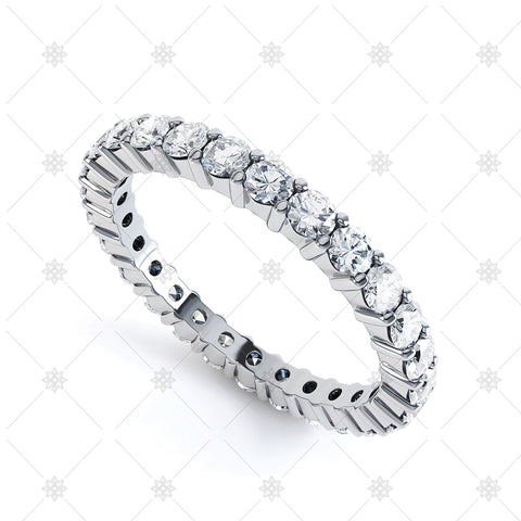 Diamond Eternity Wedding Ring Image- Claw Set