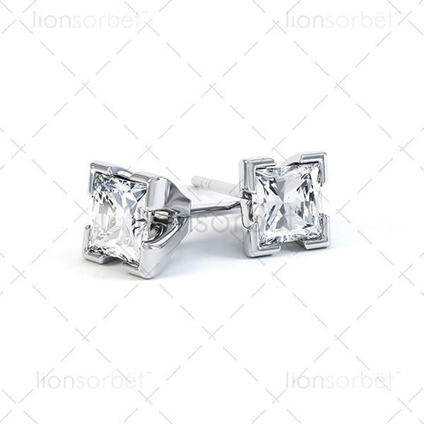 EXH Square Stud Earring