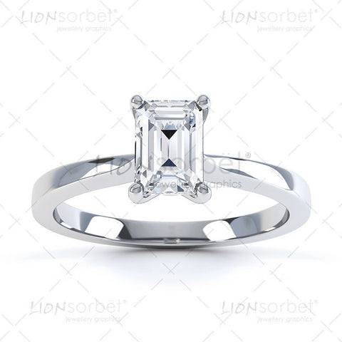 Emerald Diamond Ring image - Royalty Free  Images