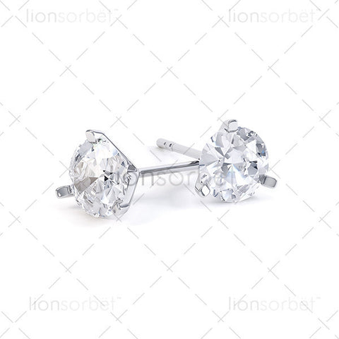 F102E Round Stud Earring