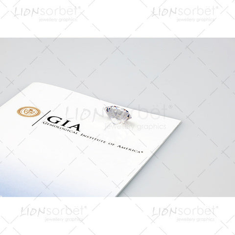 GIA Certificate and diamond rear view