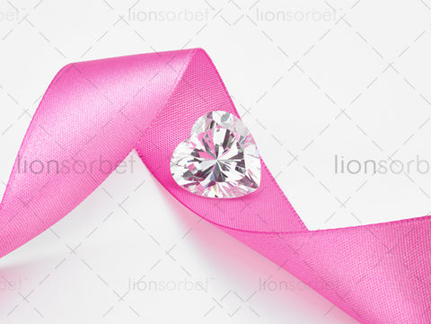 Heart Diamond Pink Ribbon - MJ1004