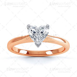 Heart 3 Claw Diamond Ring Image Pack