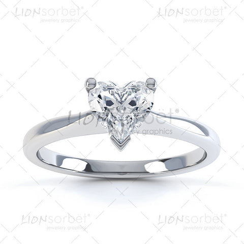 Heart cut diamond ring image - royalty free jewellery photography